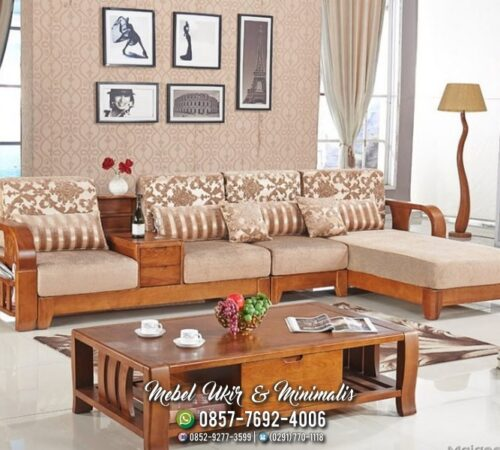 Kursi Tamu Sofa Minimalis Tengahan Laci