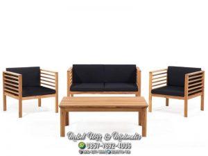 Kursi Tamu Sofa Minimalis Ringan Jok Hitam