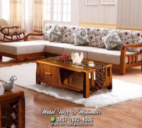 Kursi Tamu Sofa Minimalis Tanganan Lengkung