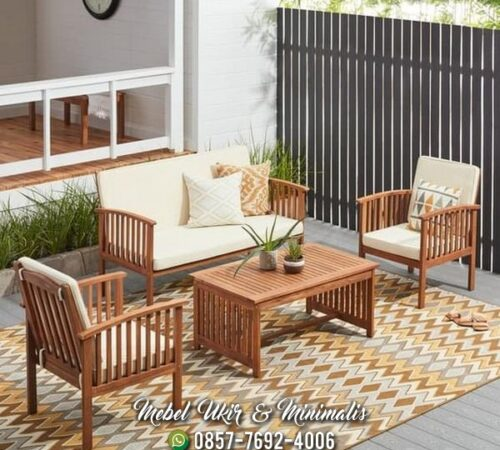 Kursi Tamu Sofa Minimalis Kayu Simpel Ringan