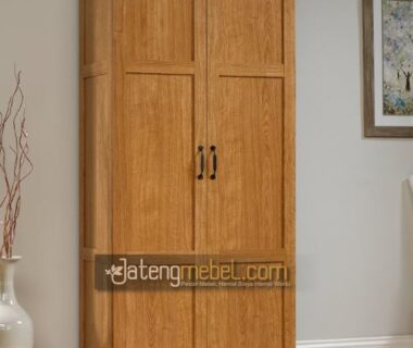 Lemari Pakaian Minimalis Pintu 2 Kayu Jati Asli