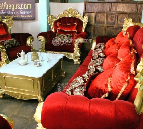 Set Kursi Tamu Sofa Ukir Mewah