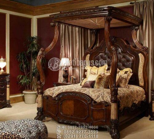 Tempat Tidur Sultan Minimalis Ukir